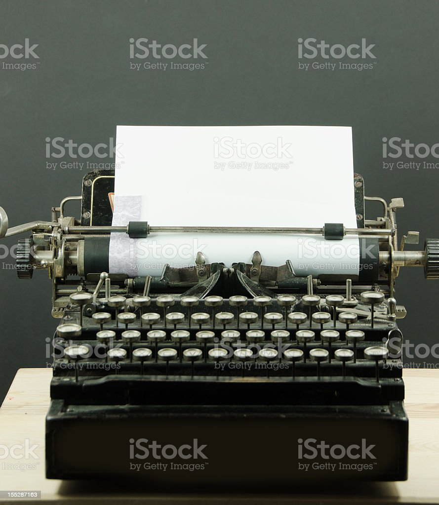Vintage Typewriter With Copy Space royalty-free stock photo