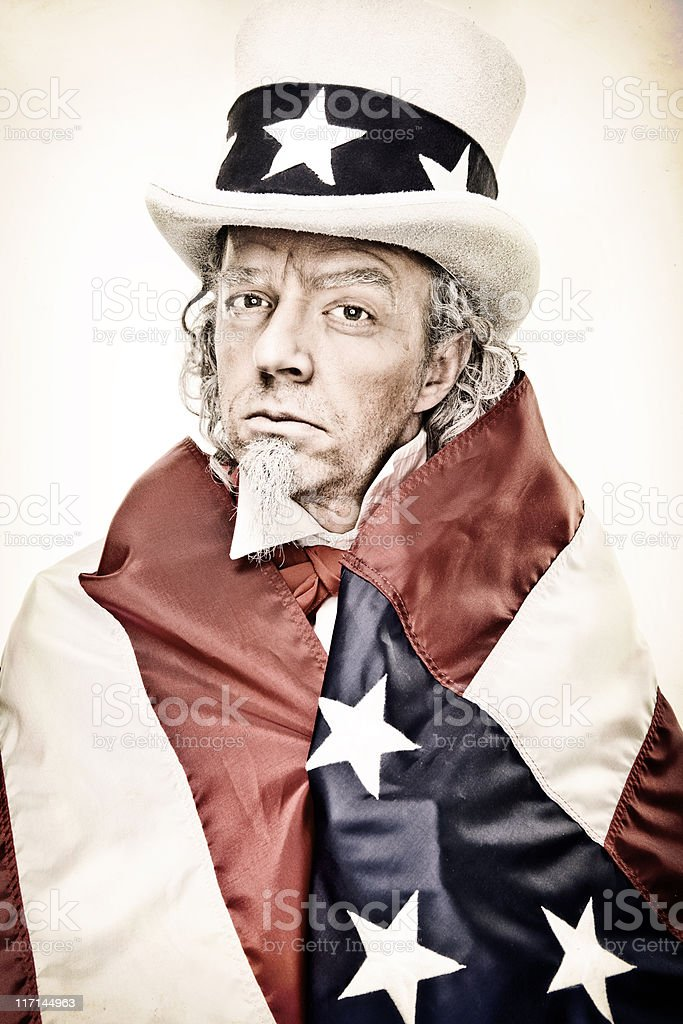 Vintage Uncle Sam Wants YOU! royalty-free stock photo