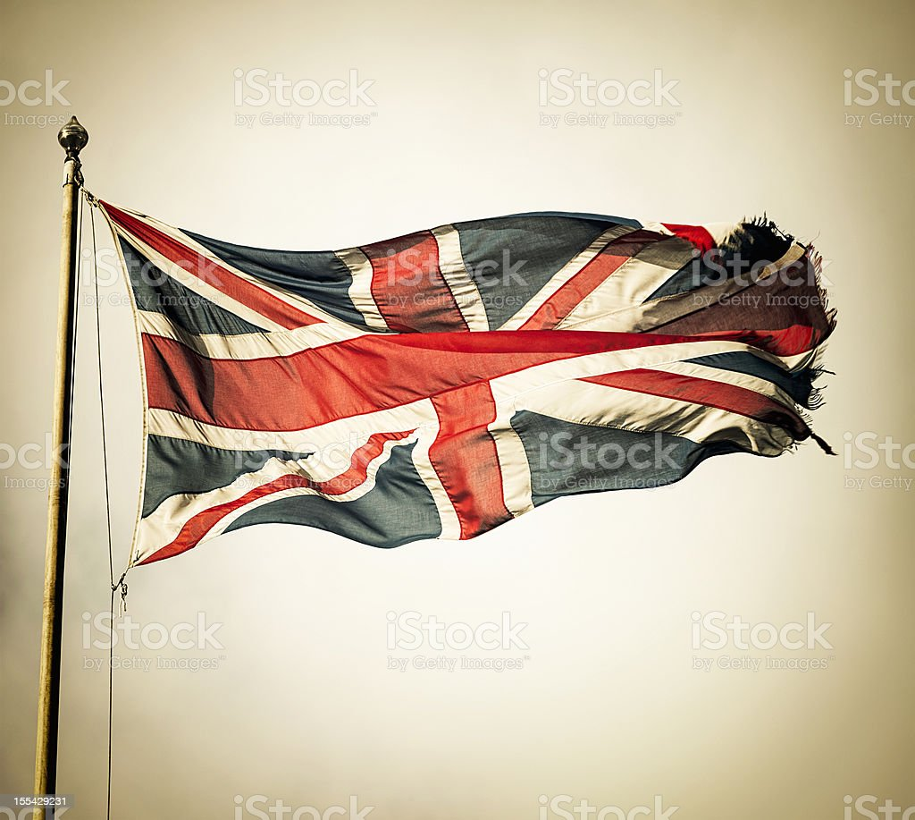 Vintage Union Flag stock photo