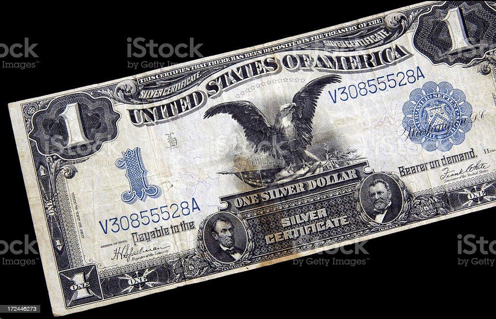 Vintage U.S. currency stock photo