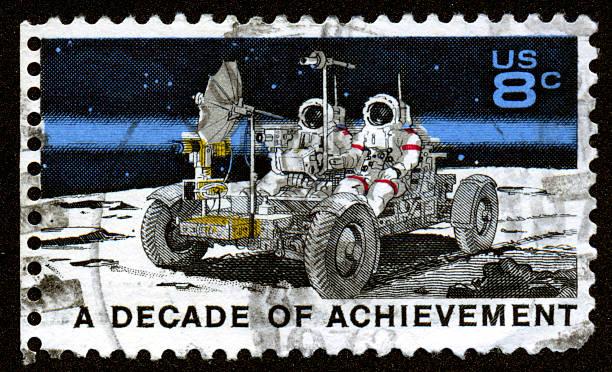 Vintage US Moon Apollo Stamp