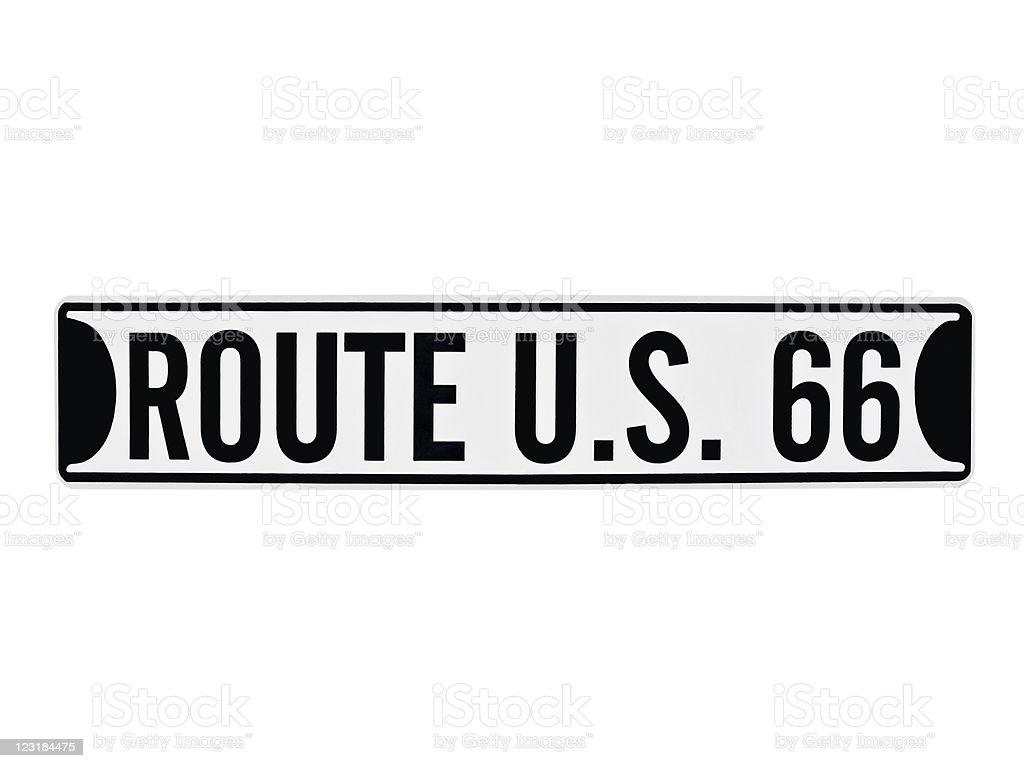 Vintage U.S. Route 66 Sign stock photo