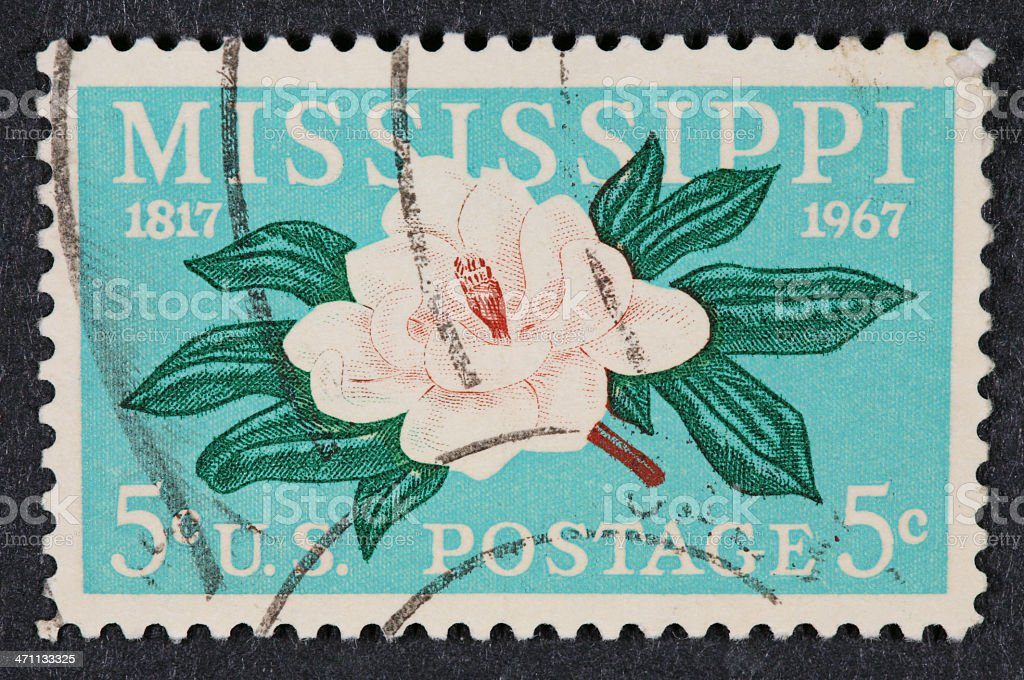 Vintage USA stamp royalty-free stock photo
