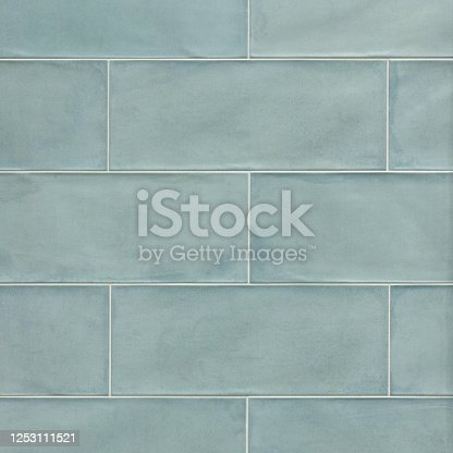 Vintage verde сeramic seamless tile with glazed texture
