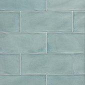 Vintage verde сeramic seamless tile with glazed texture