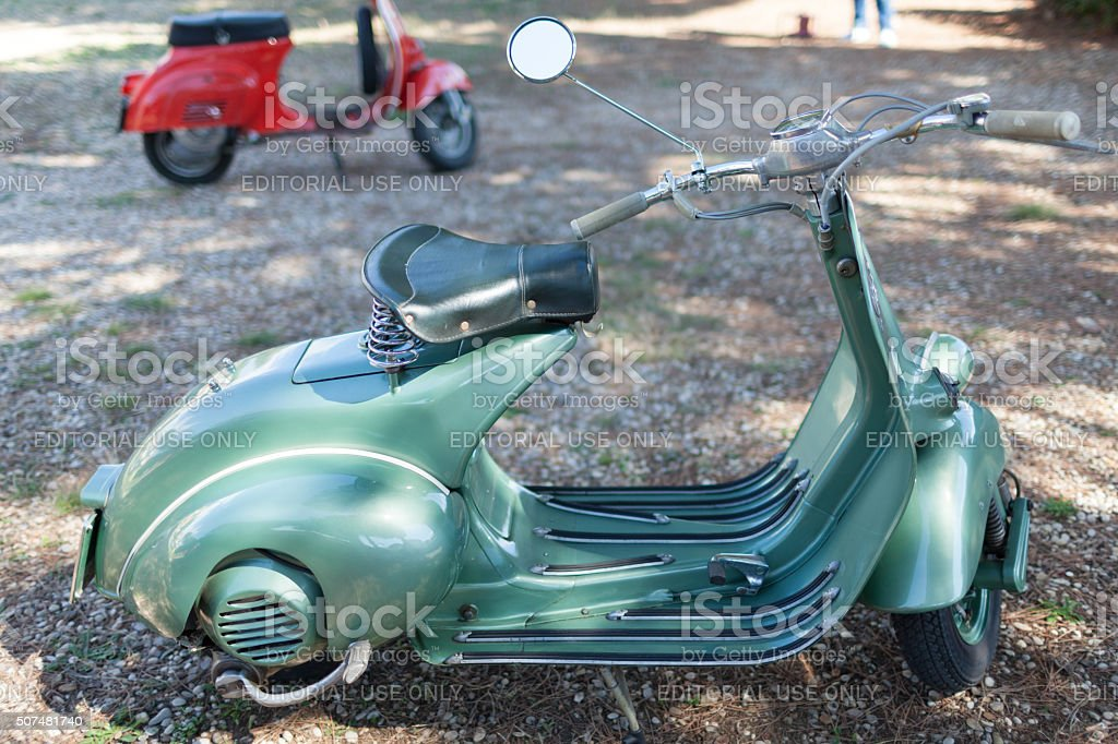 Vintage Vespa 50s Stock Photo - Download Image Now - iStock