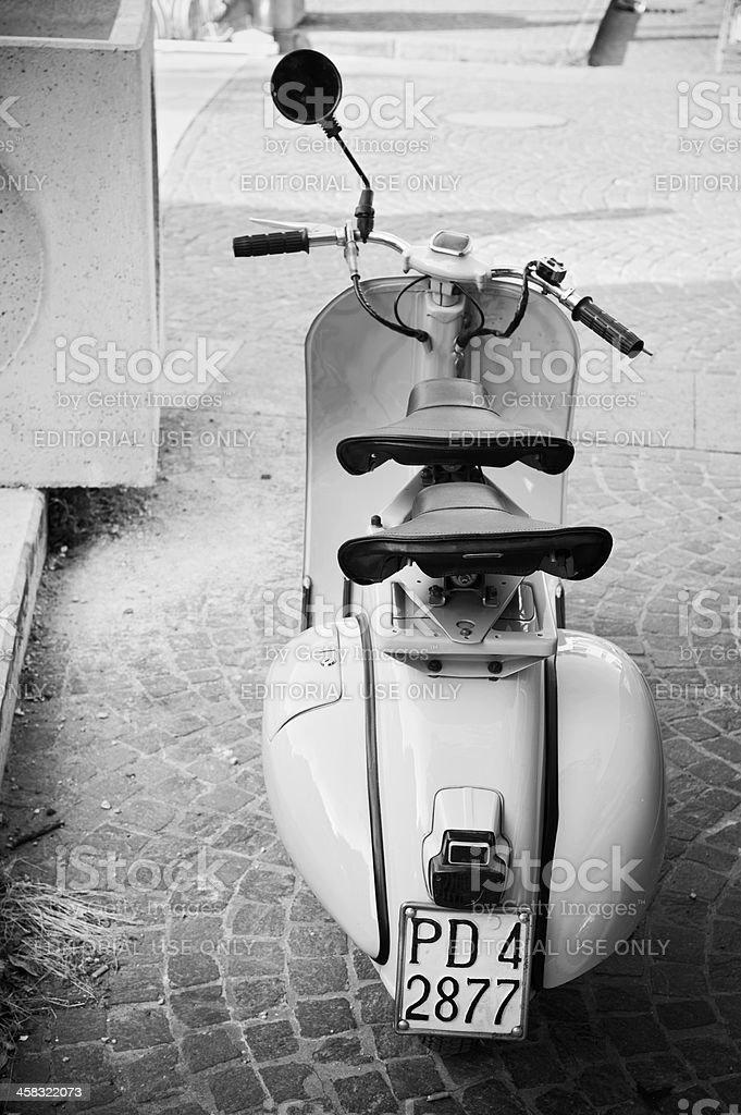 Vintage Vespa scooter stock photo