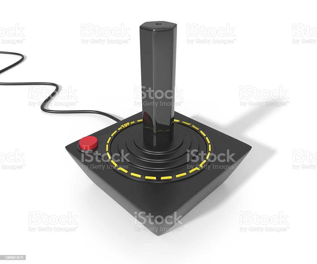 Vintage Video Game Joystick royalty-free stock photo