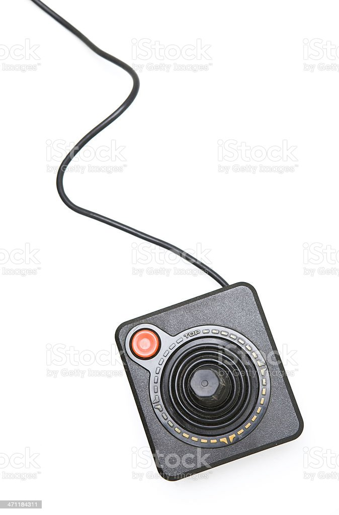Vintage Video Game Joystick with Copy Space stock photo