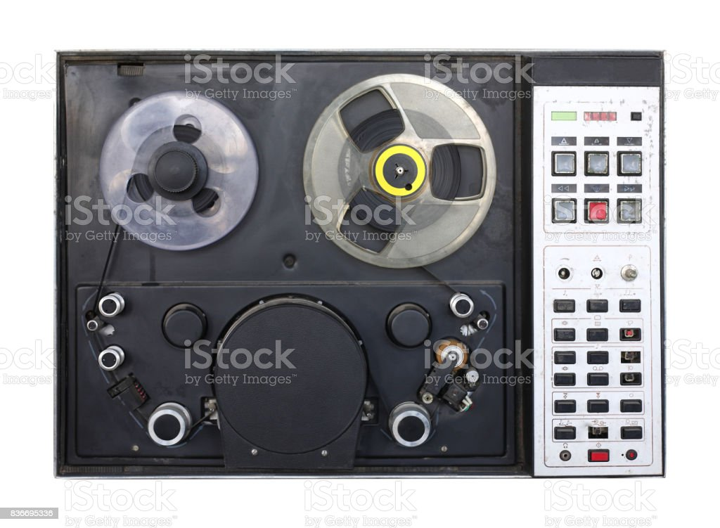 Vintage Videotape Recorder Isolated Stock Photo - Download