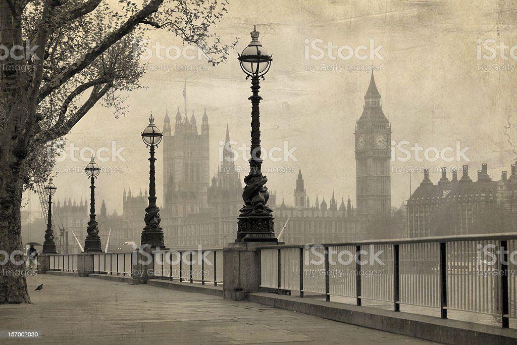 Vintage view of London stock photo