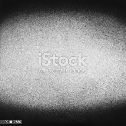 Vintage black and white noise texture. Abstract splattered background for vignette. Square frame template