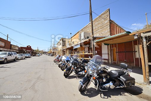 Oatman, Arizona, USA -May 17, 2013: Street view of building exterior and stores on Oatman, Arizona.