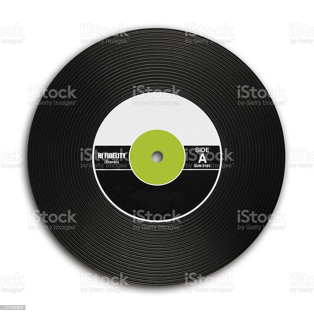 Vintage Vinyl Records stock photo