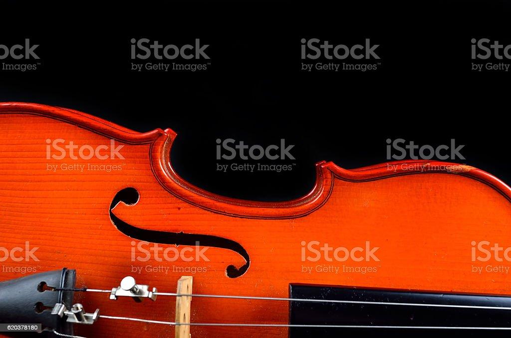 Vintage violin on black background zbiór zdjęć royalty-free