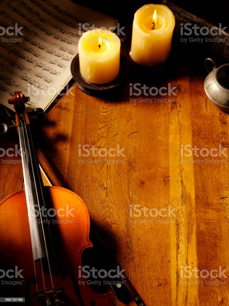 Vintage Violin Theme stock photo