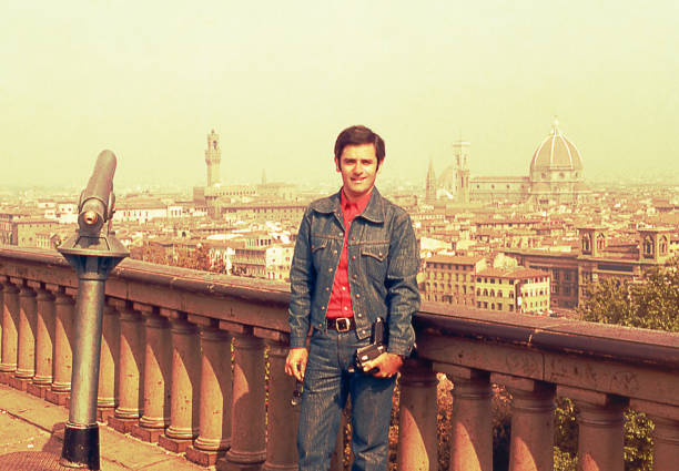 Vintage visita a Florença - foto de acervo