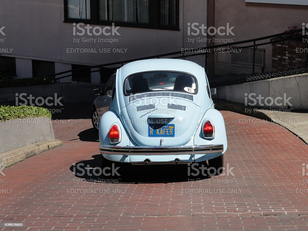 Vintage Volkswagen Beetle stock photo