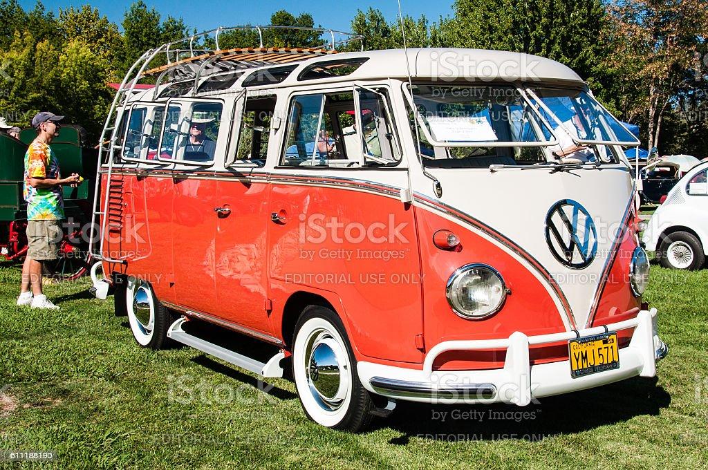Vintage Volkswagen Bus stock photo