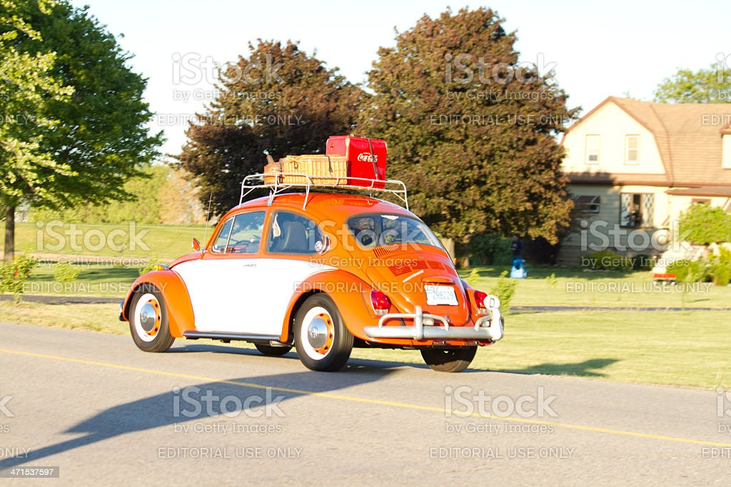 Vintage Volkswagen In Classic Car Cruise Parade stock photo