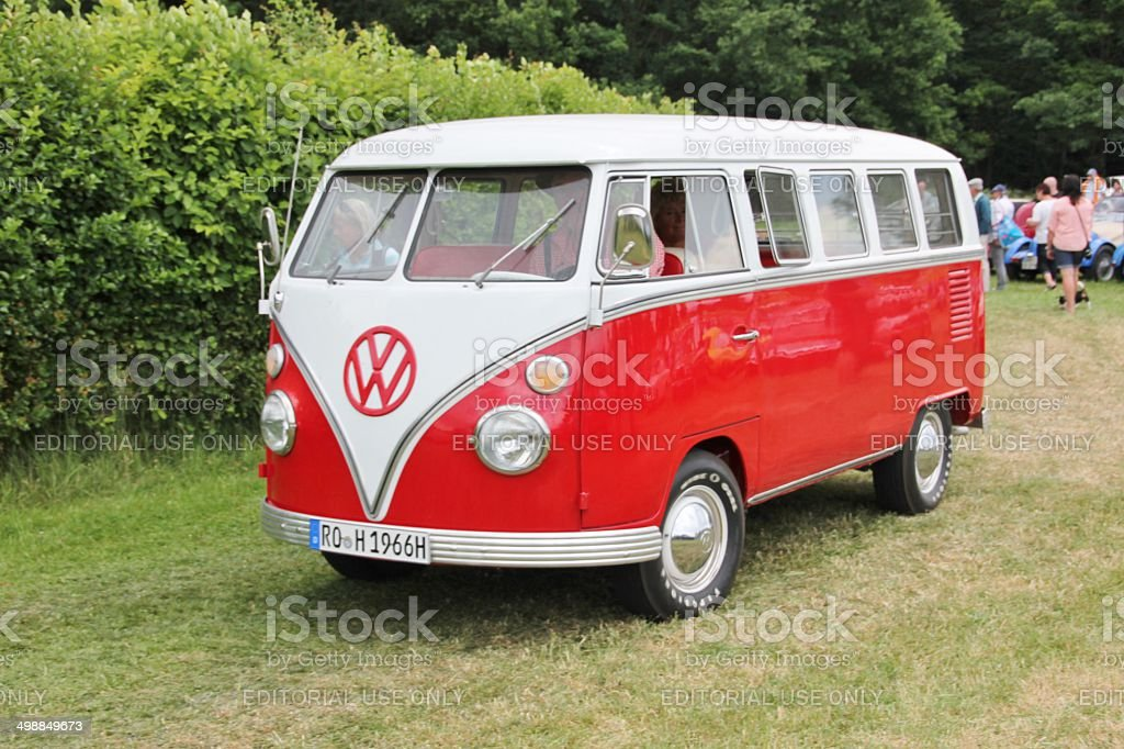 Vintage VW Bus T 1 stock photo
