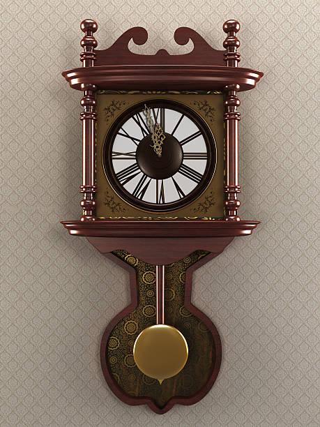 vintage reloj de pared - wall clock fotografías e imágenes de stock