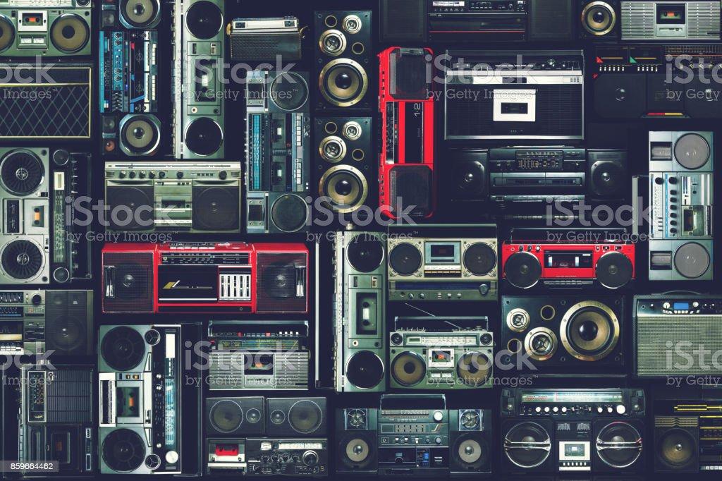 80 lerin radyo seren, duvar - Royalty-free 1980-1989 Stok görsel