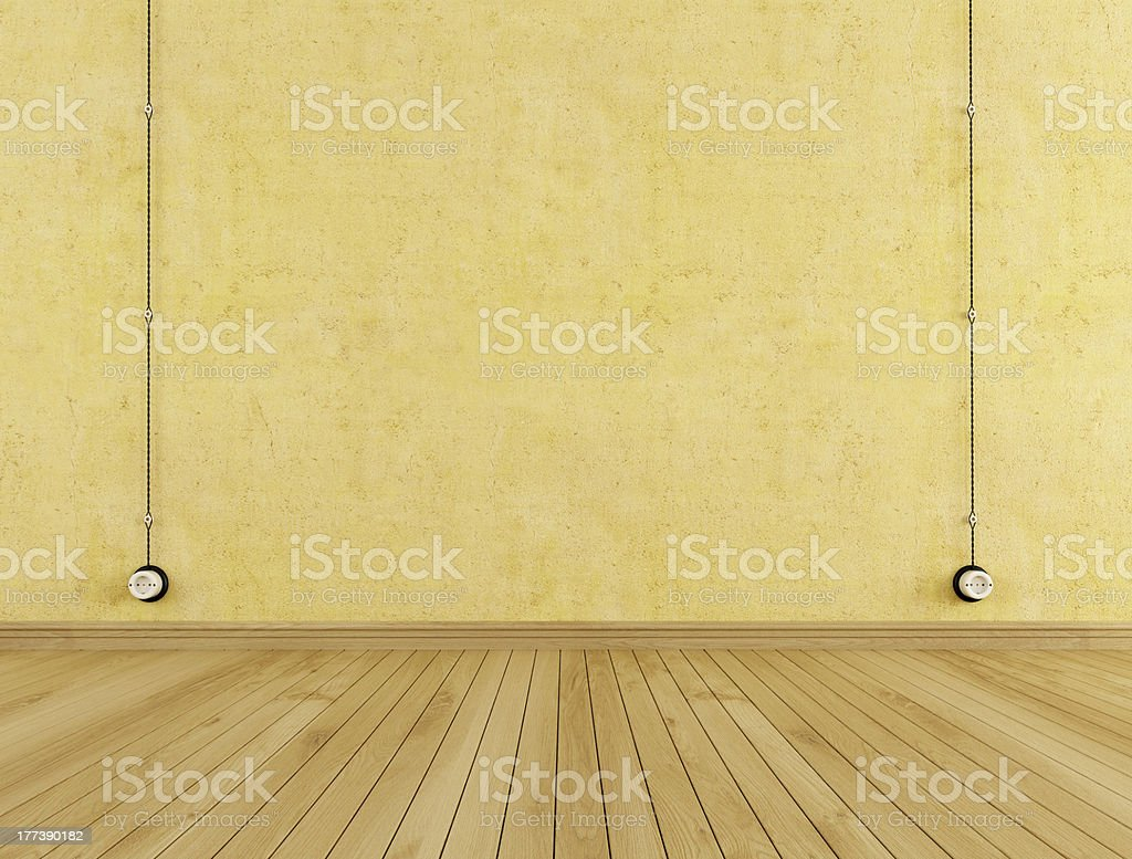 Vintage wall outlets royalty-free stock photo