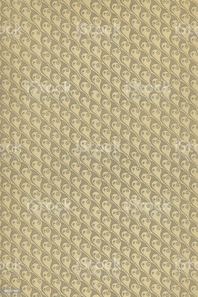 Vintage Wallpaper 1903 stock photo