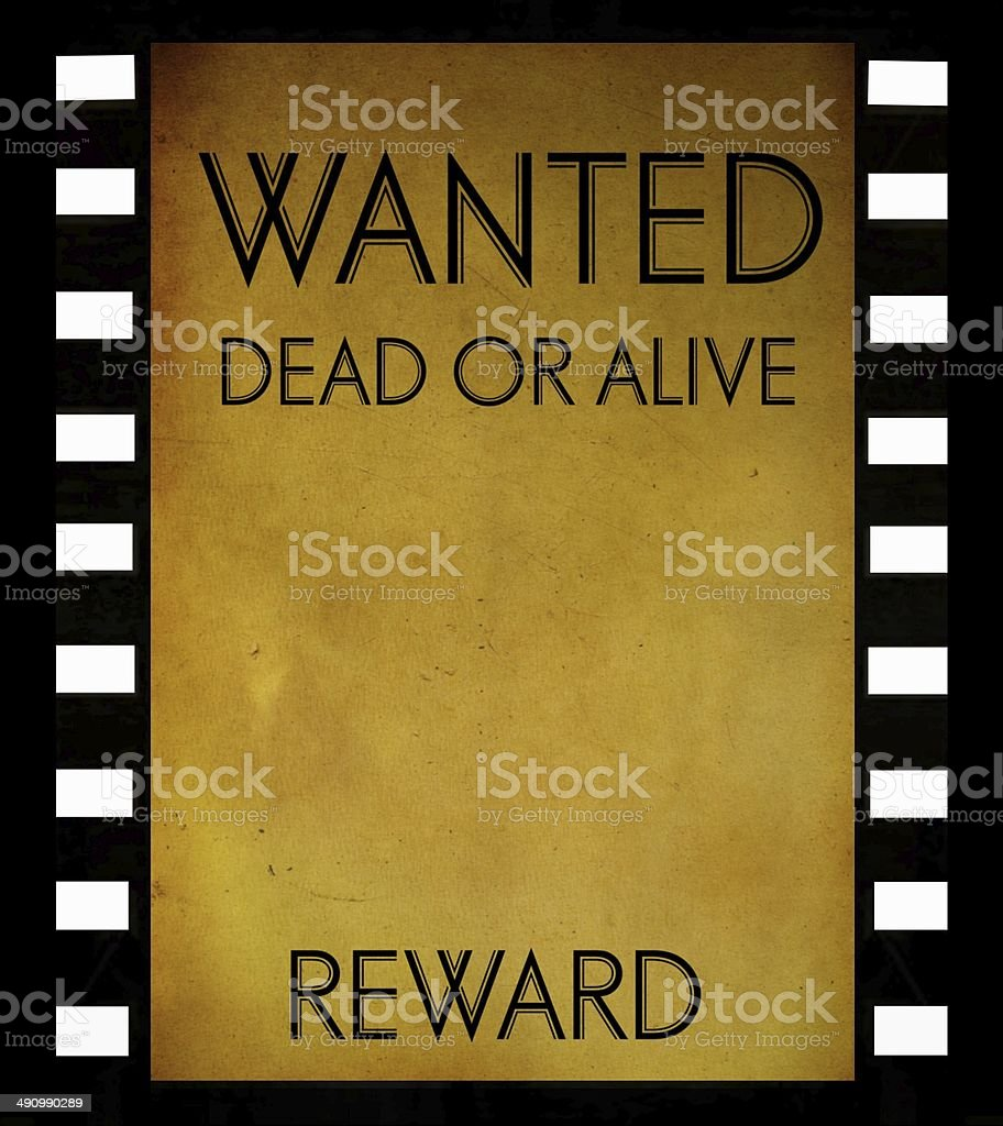 vintage wanted poster template stock photo