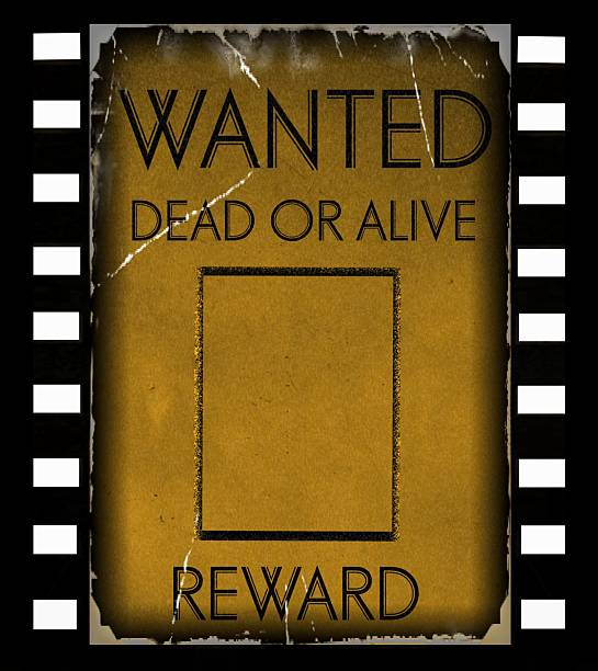 Royalty Free Background Of Wanted Signs Template Pictures, Images ...