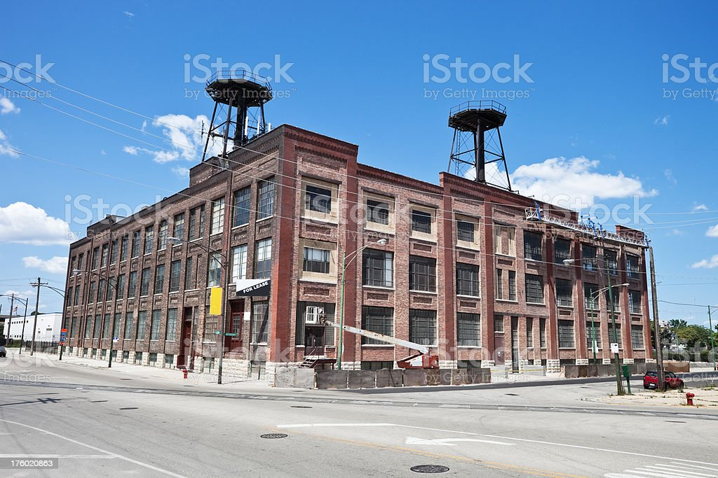 Vintage Warehouse in Chicago royalty-free stock photo