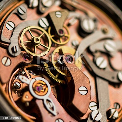 istock Vintage watch mechanism 1151063556
