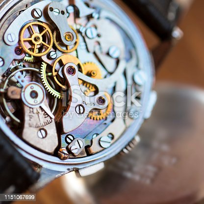 Vintage watch mechanism