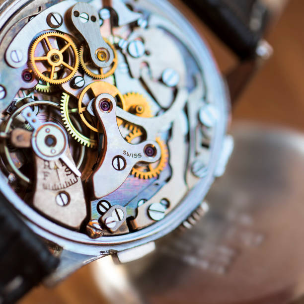 Vintage watch mechanism Vintage watch mechanism swiss culture stock pictures, royalty-free photos & images