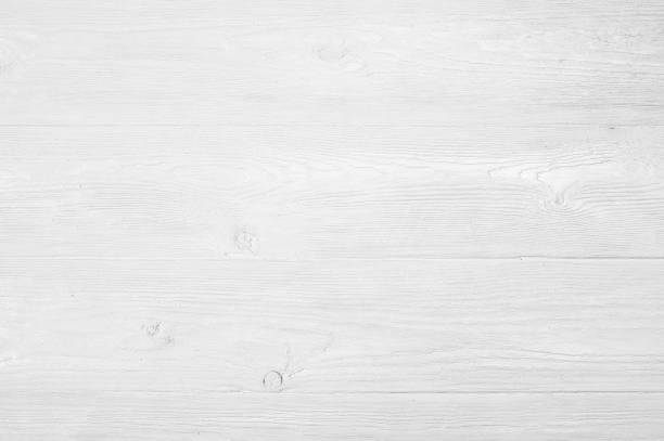Vintage weathered shabby white painted wood texture as background - foto stock
