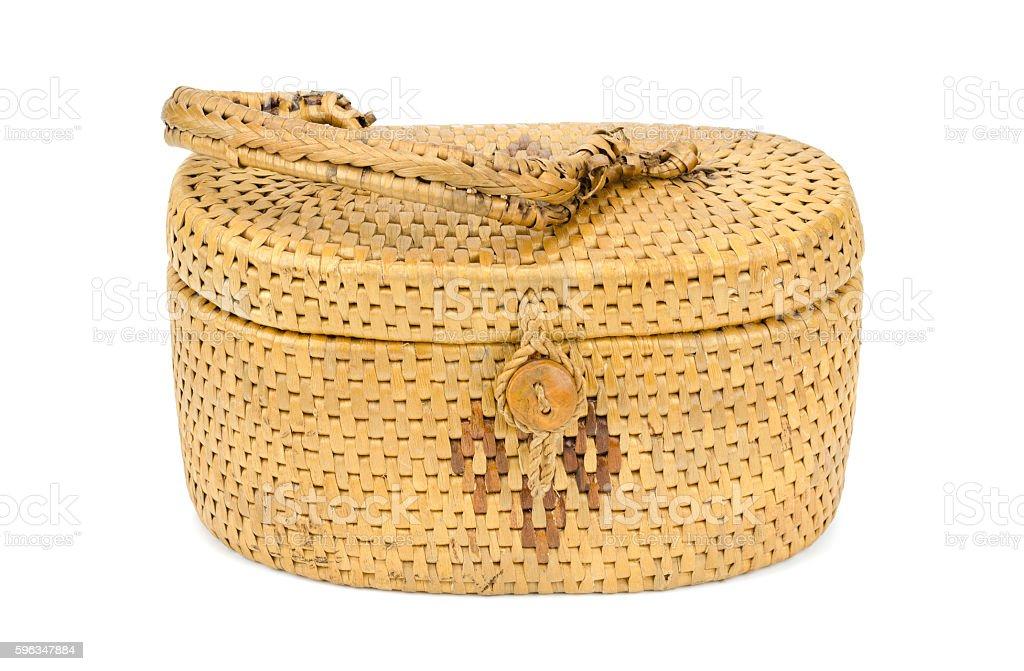 Vintage weave wicker basket royalty-free stock photo
