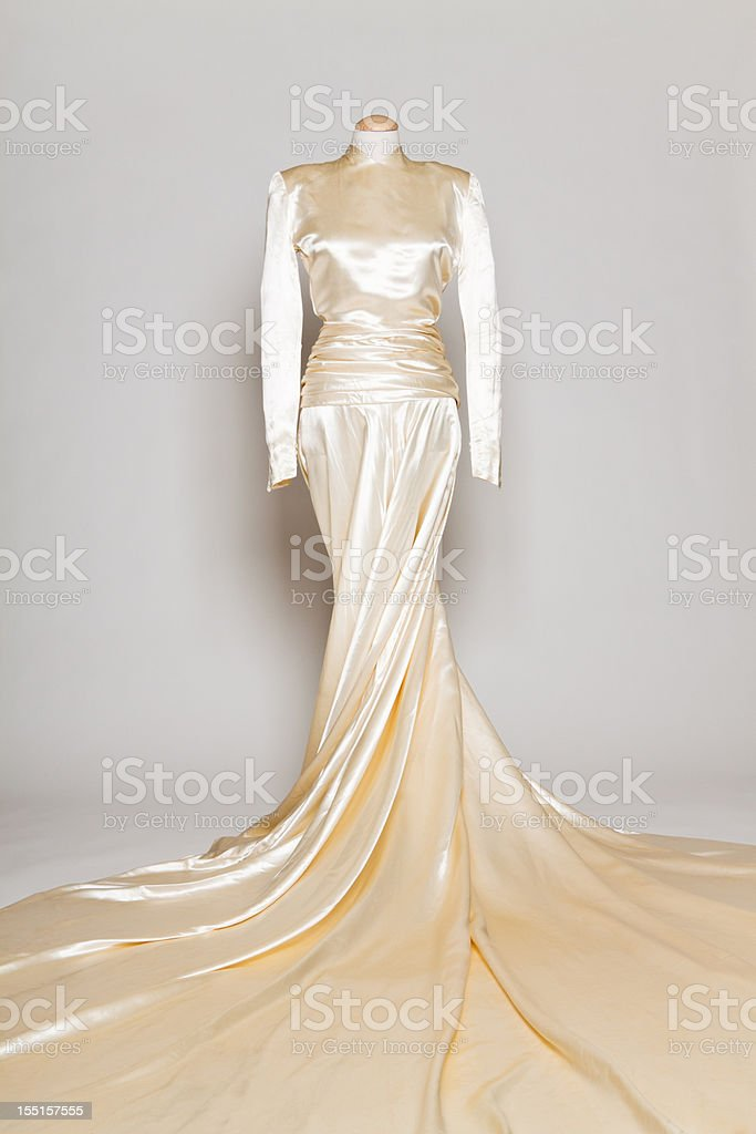 Vintage Wedding Gown royalty-free stock photo