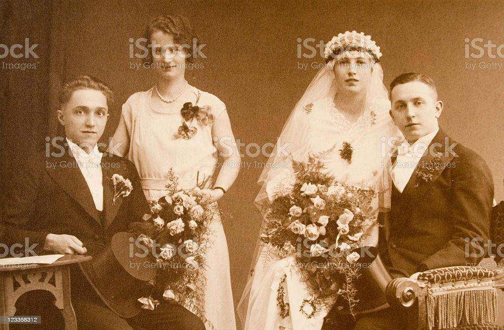 Vintage wedding photography royalty-free stock photo