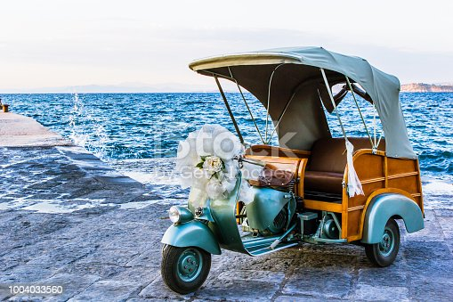 vintage wedding near the sea