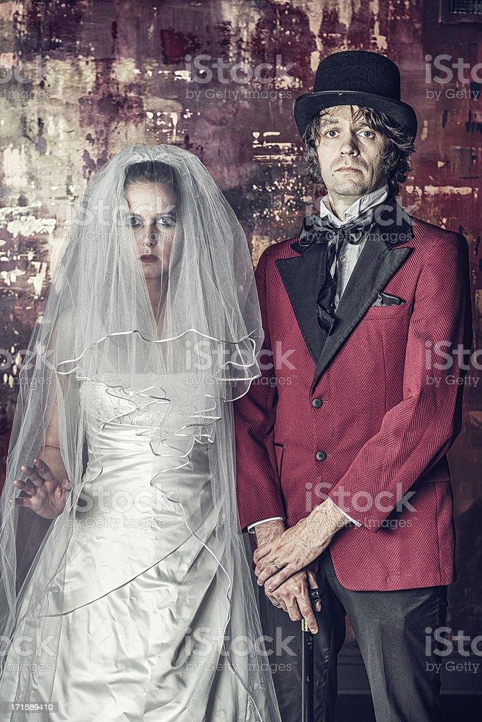 Vintage Wedding Portrait stock photo