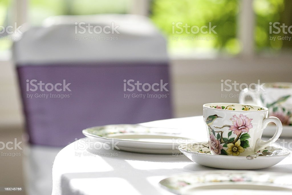 Vintage Wedding Tea Cup royalty-free stock photo
