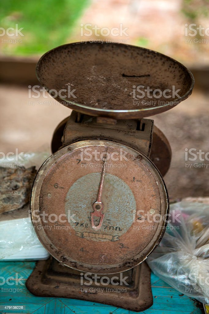 Vintage Weighing Scales stock photo