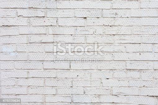 istock Vintage white background brickwall 475225634