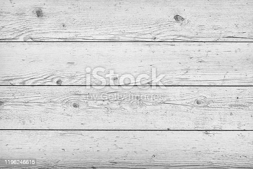 643874908 istock photo Vintage white grunge wooden texture with knots background 1196246615