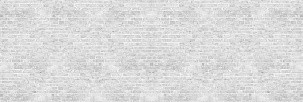Vintage white wash brick wall texture for design. Panoramic background for your text or image. Vintage white wash brick wall texture for design. Panoramic background for your text or image. whitewashed stock pictures, royalty-free photos & images