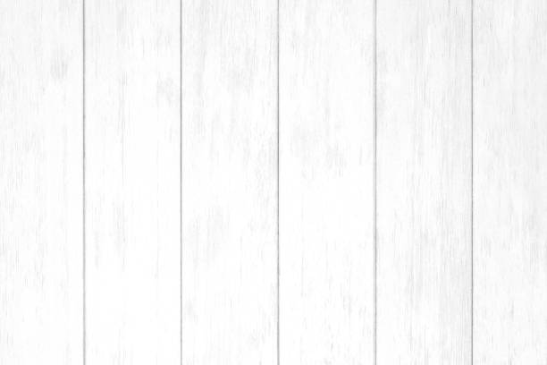 Vintage white wood fence texture and background seamless stock photo