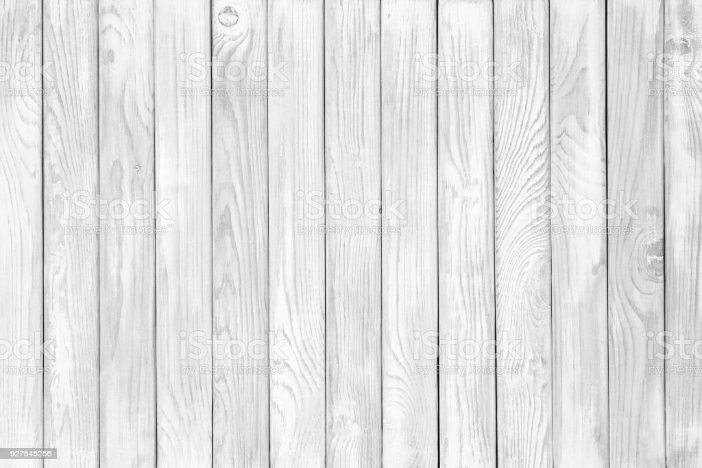 Vintage White Wood Plank As Texture And Background