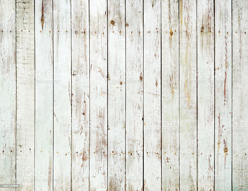 Vintage White Wooden Fence Background Royalty Free Stock Photo