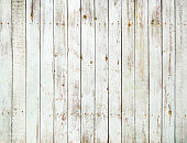 Vintage white wooden fence background